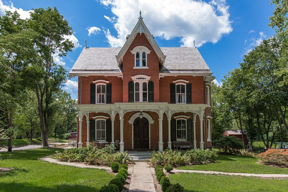 House of the week a gothic revival mansion on an old for Gothic revival homes for sale