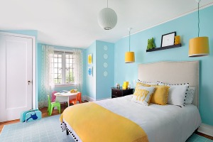 Fun accents make this room suitable for kids.