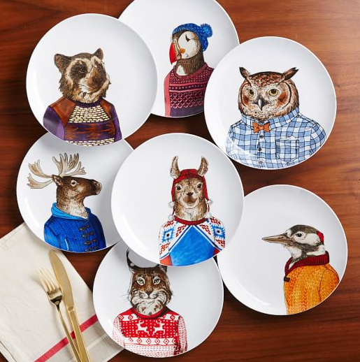 3B. Dapper Animal Plates
