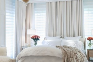 "Master bedroom in the ""Caron Street"" residence by Zillow Digs designer Jamie Herzlinger."