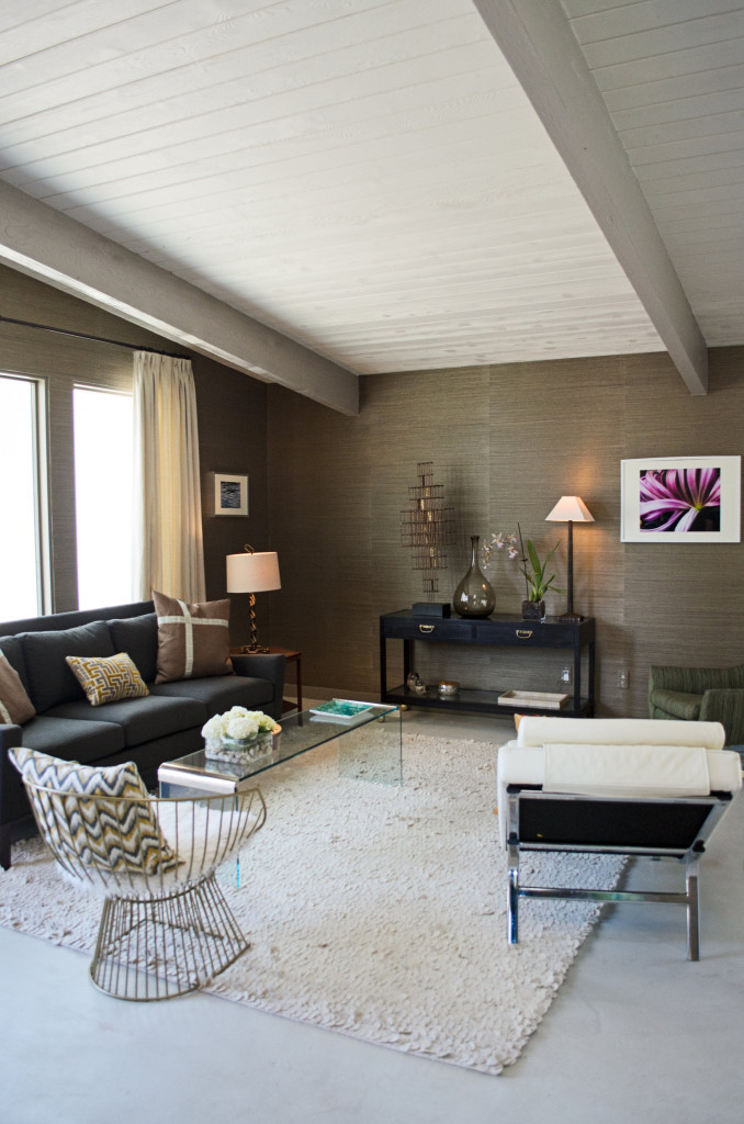 Rich wall color pairs beautifully with sleek furnishings.