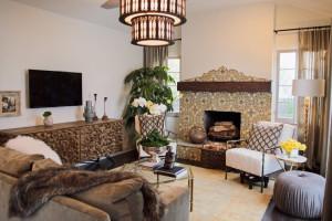 Dann's Spanish-style living room is still modern.