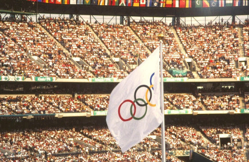The track-and-field venue at the 1996 Atlanta Olympics. Source: Wikipedia Commons