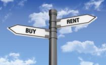 Buy vs. rent sign