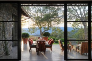 De Meza Architecture shows how concrete can be beautiful for a patio overlooking wine country.
