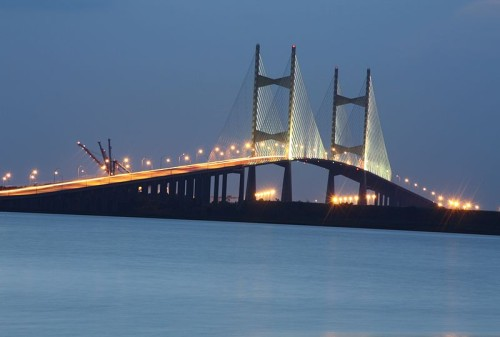 The Dames Point Bridge, officially named the Napoleon Bonaparte Broward Bridge, was built over the St. Johns River in 1989.