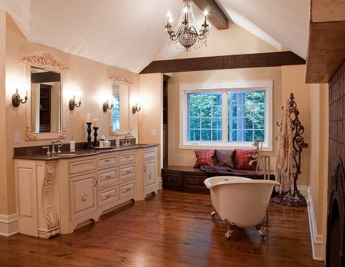 Zillow's Dig This Trend: French Flair master bathroom with soaking tub