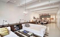 Dunhams' apartment living room