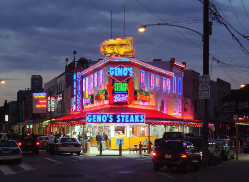 Geno's Steaks. Source: Wikipedia Commons