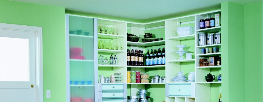 Green pantry by California Closets