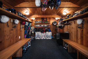 Hockey dressing room