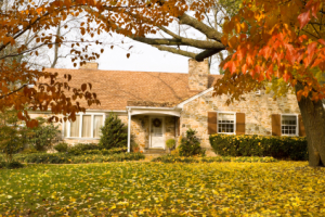 Home in fall