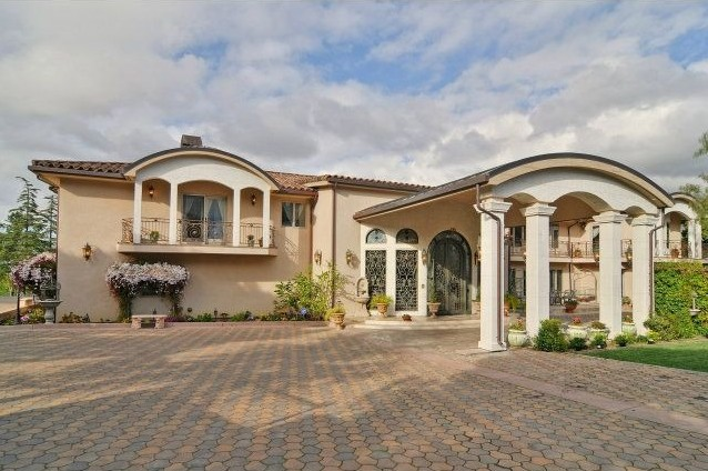 A more stately home is typical of the Los Altos Hills. This estate is listed for