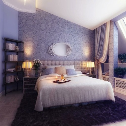Most Romantic Bedrooms Fascinating With Blue and Cream Bedroom Decor Picture