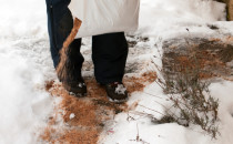 Sand and salt improve safety during winter