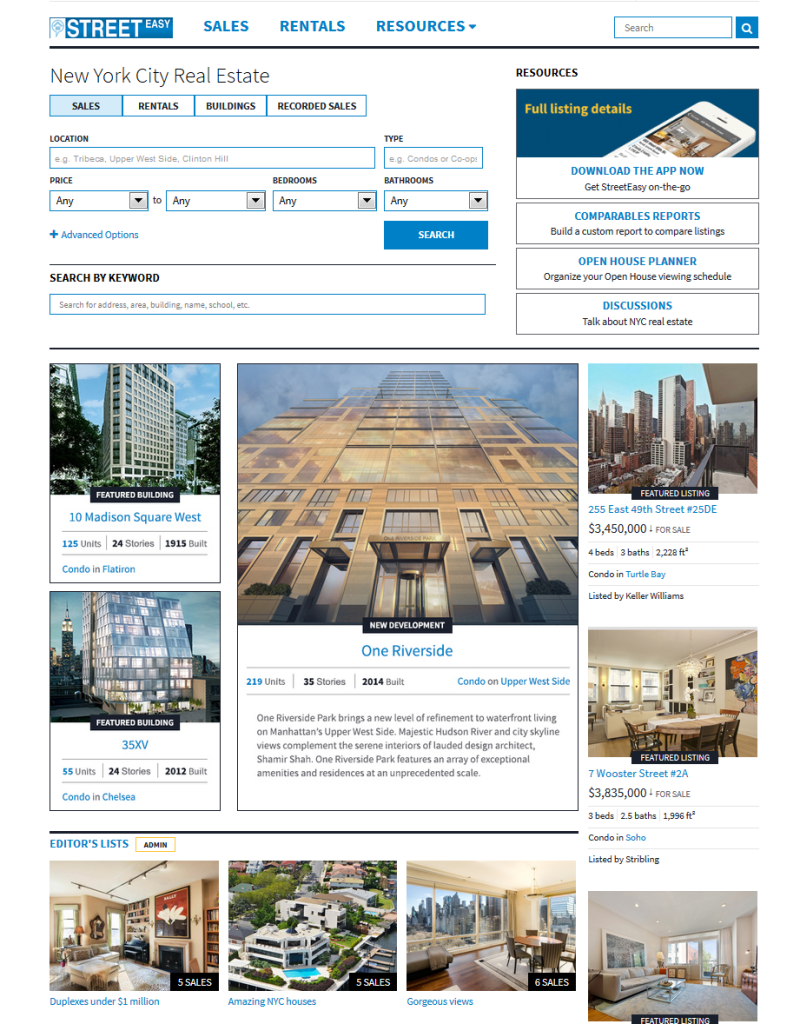 Calling all new yorkers newly designed streeteasy is now for Zillow new york city