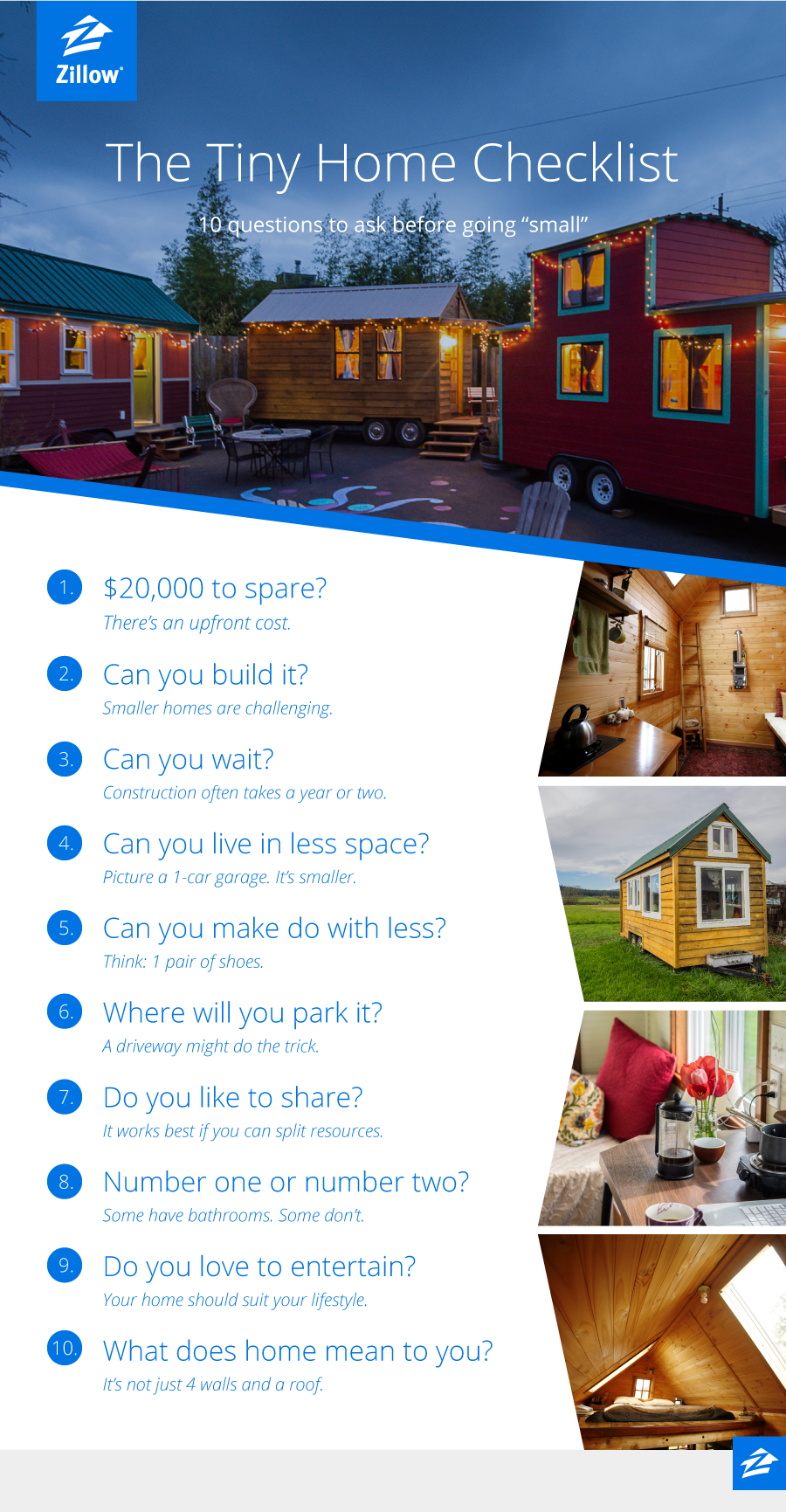 10 Questions to Ask Before Choosing a Tiny Home | Zillow Blog