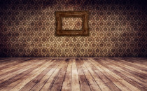 Vintage room hardwood floors