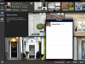 Zillow Digs iPad update - add images