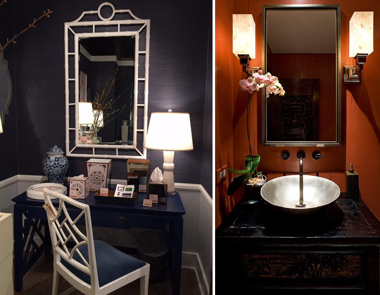Left: Worlds Away Showroom, photo by Kerrie Kelly Design Lab. Right: Deb Reinhart