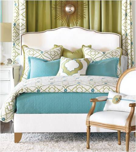 Blue and green is a popular color palette.