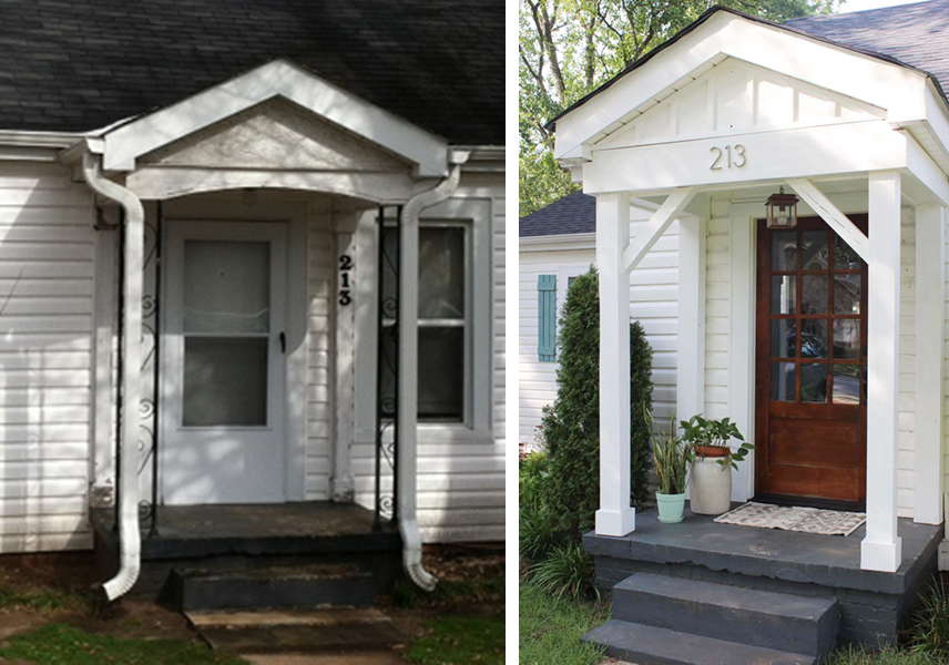 Before Amp After Cottage Curb Appeal Makeover City Living Ny