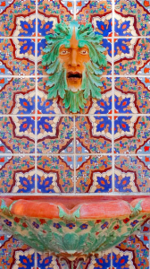 An example of Malibu Pottery tile work. Source: Adamson House
