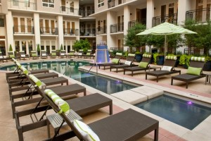 Gables Uptown Trail Apartments - Pool. Photo Source: Zillow
