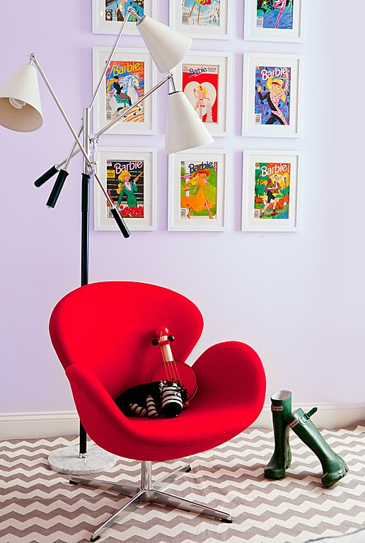 A rocking chair doesn't need to be traditional, as is shown in this design by Jessica Gersten.