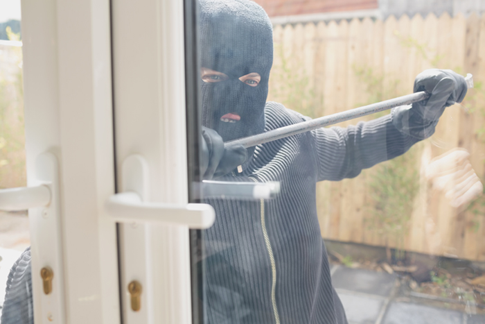 Burglars pose a threat at all times of day.