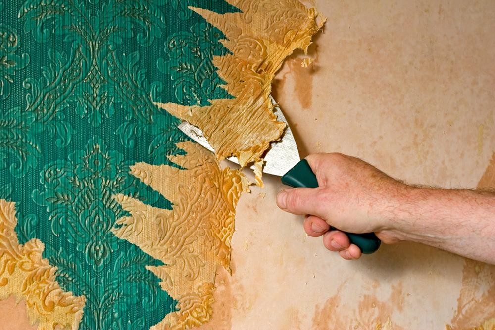 Prepare your home to sell this spring - Quitar papel pintado de la pared ...