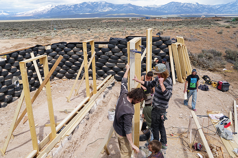 Earthship Construction Materials : Earthships built to stand alone zillow porchlight