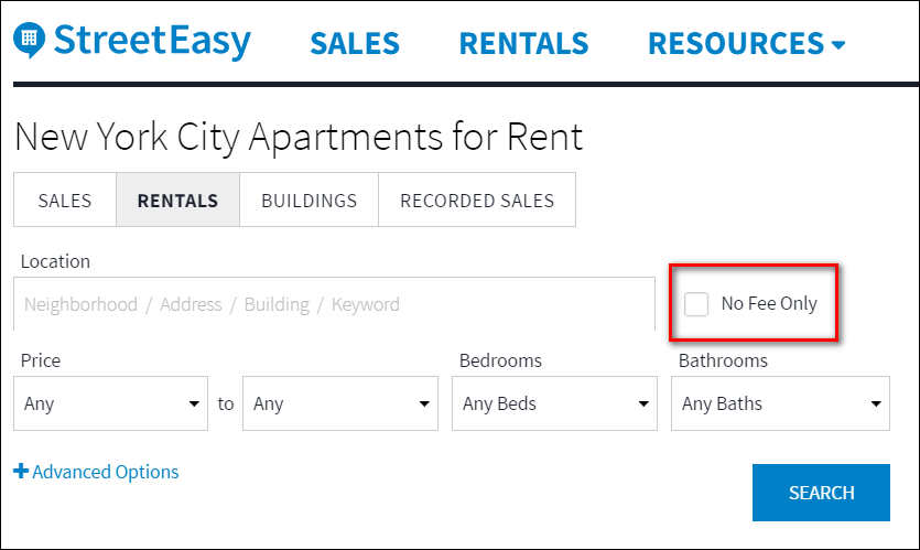 How to find a no fee rental in new york city streeteasy for No fee rentals nyc